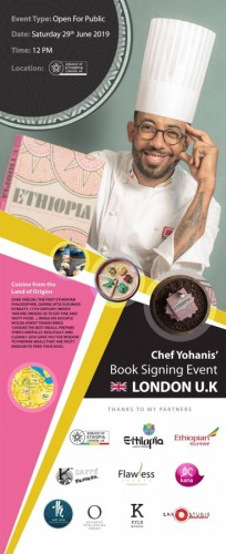 Chef Yohanis UK Book Tour and Book Signing