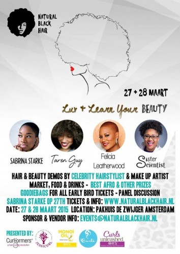 Taren Guy's Luv & Learn Your Beauty Amsterdam  - 27-28.03.15