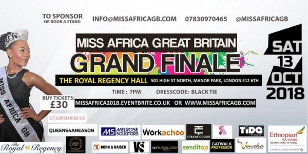 MISS AFRICA GREAT BRITAIN 2018 GRAND FINALE
