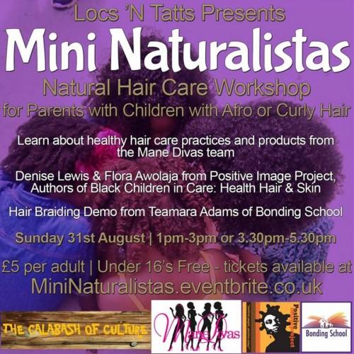 Mini Naturalistas Haircare Workshop - 31.09.14