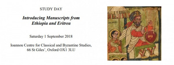 Introducing Manuscripts from Ethiopia and Eritrea
