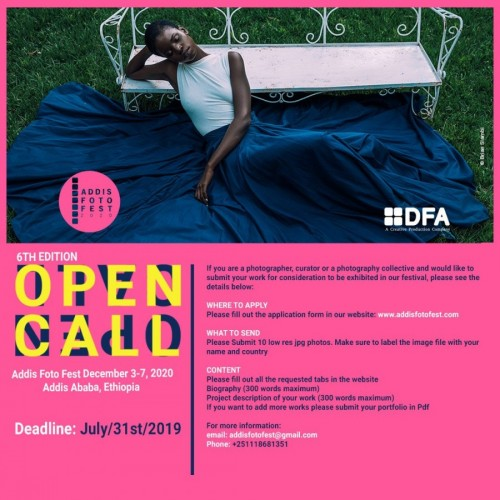 Open Call Addis Foto Fest 2020